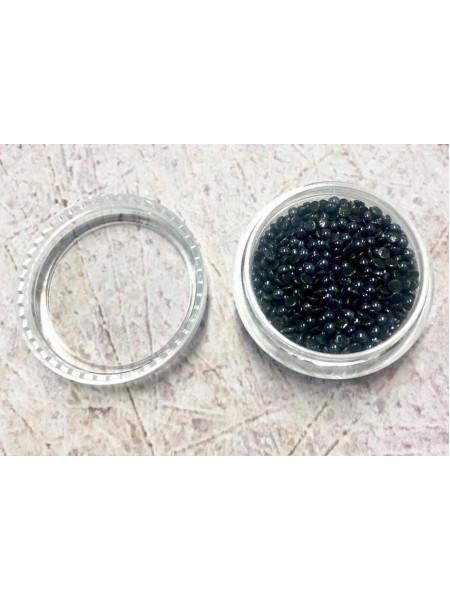 Жемчуг для дизайна ногтей 2мм чёрный (керамика)