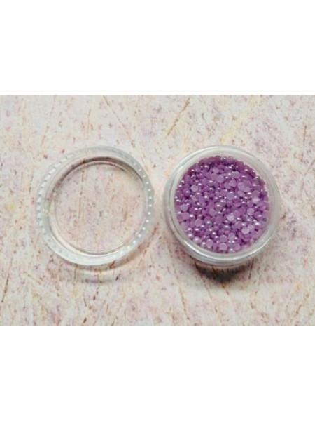 Жемчуг для дизайна ногтей 2мм фиолетовый (керамика)