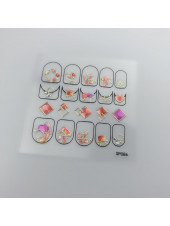 3D наклейки для дизайна ногтей №86