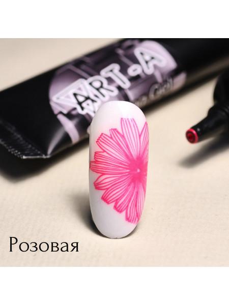 Гель паста для стемпинга Art-A розовая